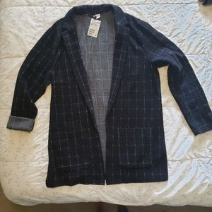 NWT Long Knit Blazer-Style Sweater